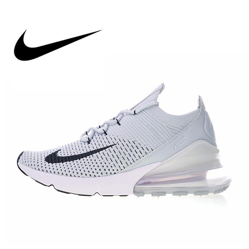 Authentique Nike Air Max 270 Flyknit chaussures de course pour hommes bonne qualité respirant léger en plein Air baskets AO1023