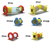 kids plastic toys tube slides outdoor playground for school/park