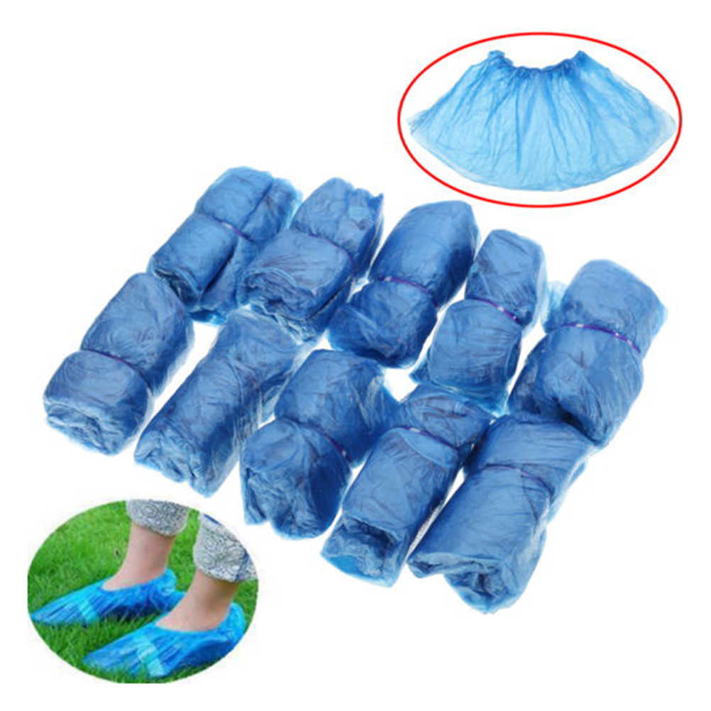 100pcs/lot Hospital Overshoes Shoe Care Kits Drop Shiping Disposable Shoe Covers Plastic Rain Waterproof Overshoes Boot Covers