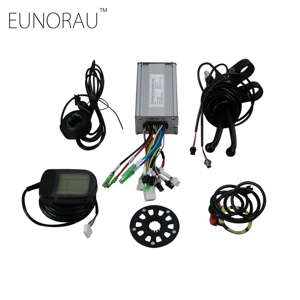 Electric bicycle controller Conversion Kit e bike controller system for 48V750W/1000W hub motor kit 16 18 48v 60v 72v 1000w hub motor kit for electric motorcycle diy with controller and hydraulic disc brake system