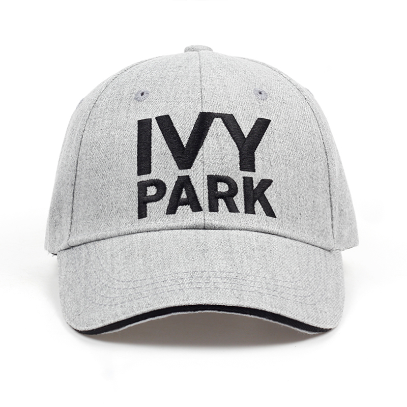 IVY PARK Baseball Cap Beyonce Sporty Style Cotton Hemp Ash Hat Unisex Snapback Caps For Women Man Brand Embroidery IVYPARK