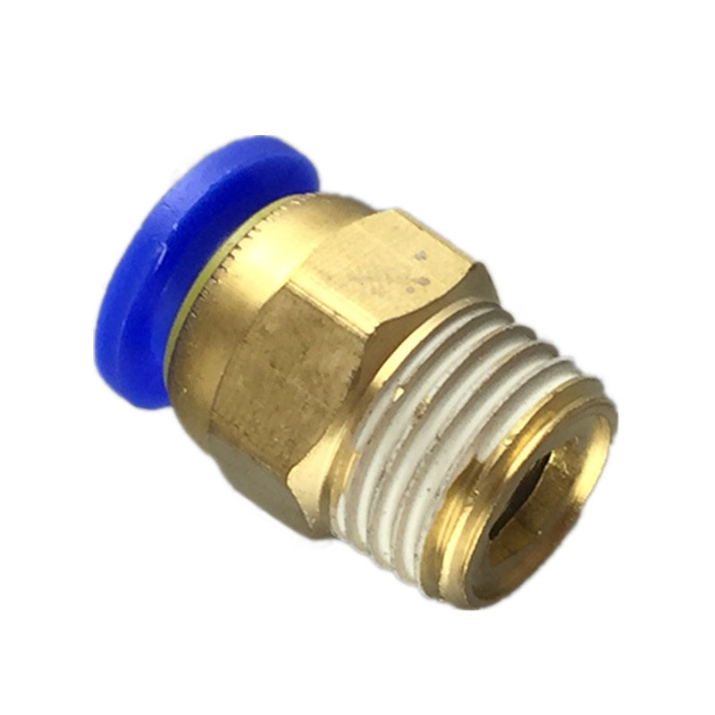Free shipping 10PCS Pneumatic fitting push in quick connector fittings PC6-01 PC6-02 PC8-01 PC8-02 PC4-m5 PC4-01 PC10-02 PC10-03 9 pcs 3 8 pt male thread 8mm push in joint pneumatic connector quick fittings