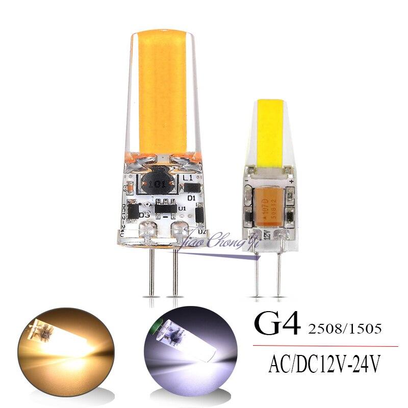 G4  COB 2508 1505 LED Light Bulb White Warm  White Cabinet Droplight ACDC12V~24V