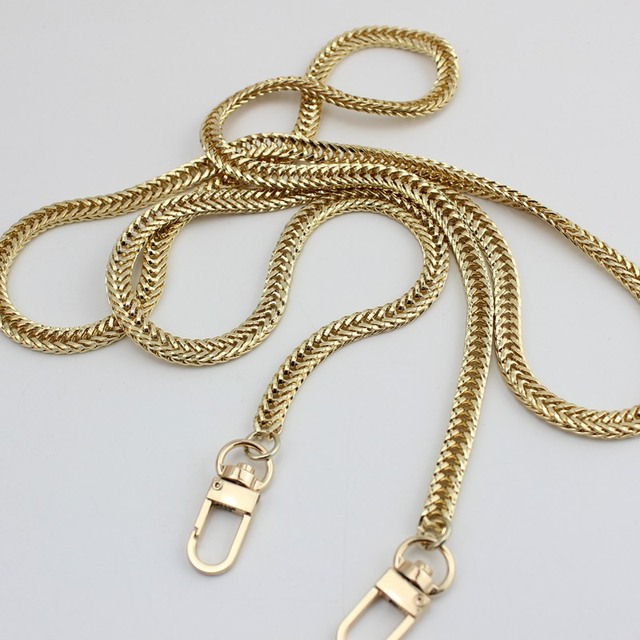 120cm Silver Gold 7mm Metal Chains Shoulder Straps For Small Handbags Purses Bags Strap Replacement