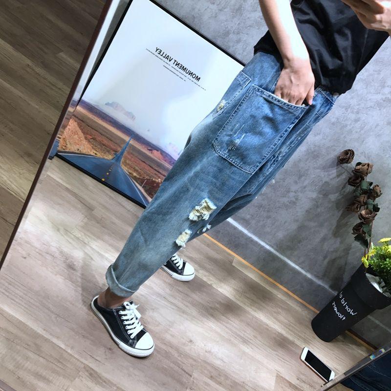 Low drop Crotch Jeans Women Baggy Boyfriend Denim pants Hip Hop street Japanese Style Harem Trousers Plus Size Cowboy Joggers-in Jeans from Women's Clothing    2