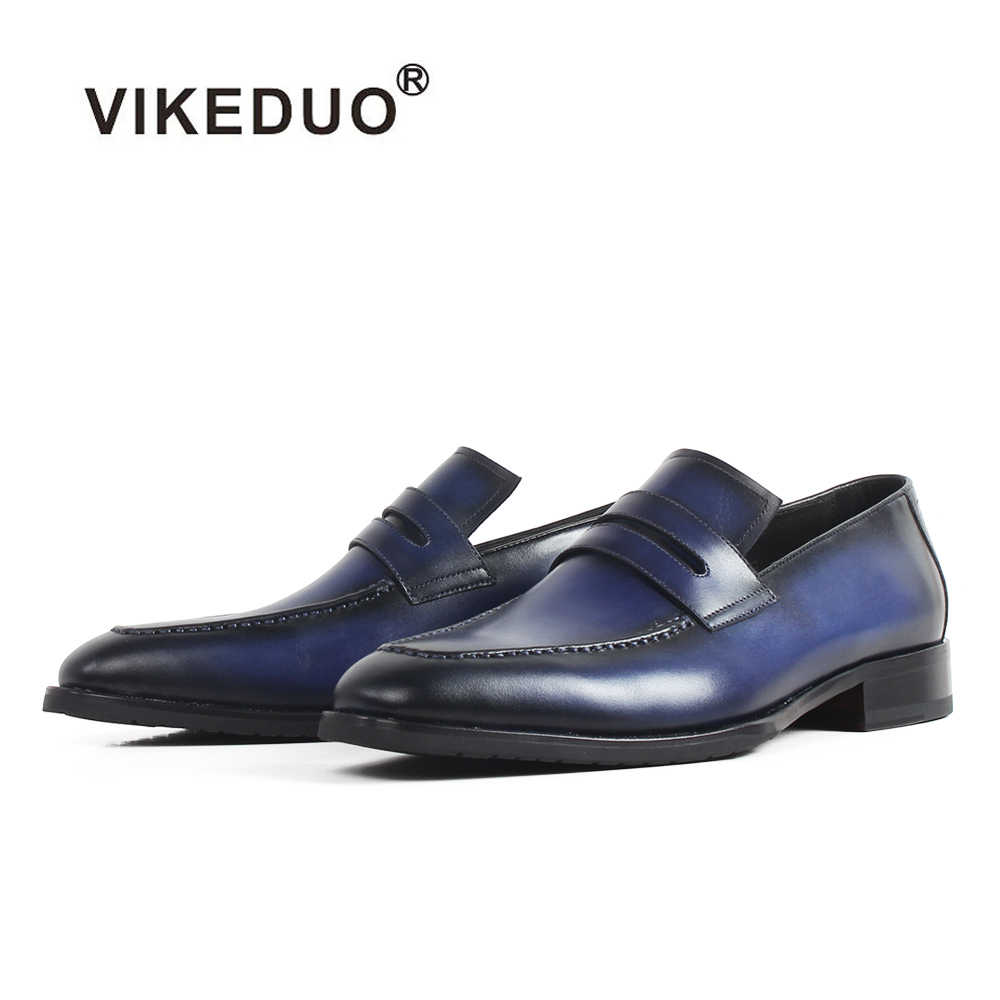 Vikeduo Men s Summer Loafer Shoes Solid Genuine Leather Male Wedding Party Office Shoe Casual Sapato