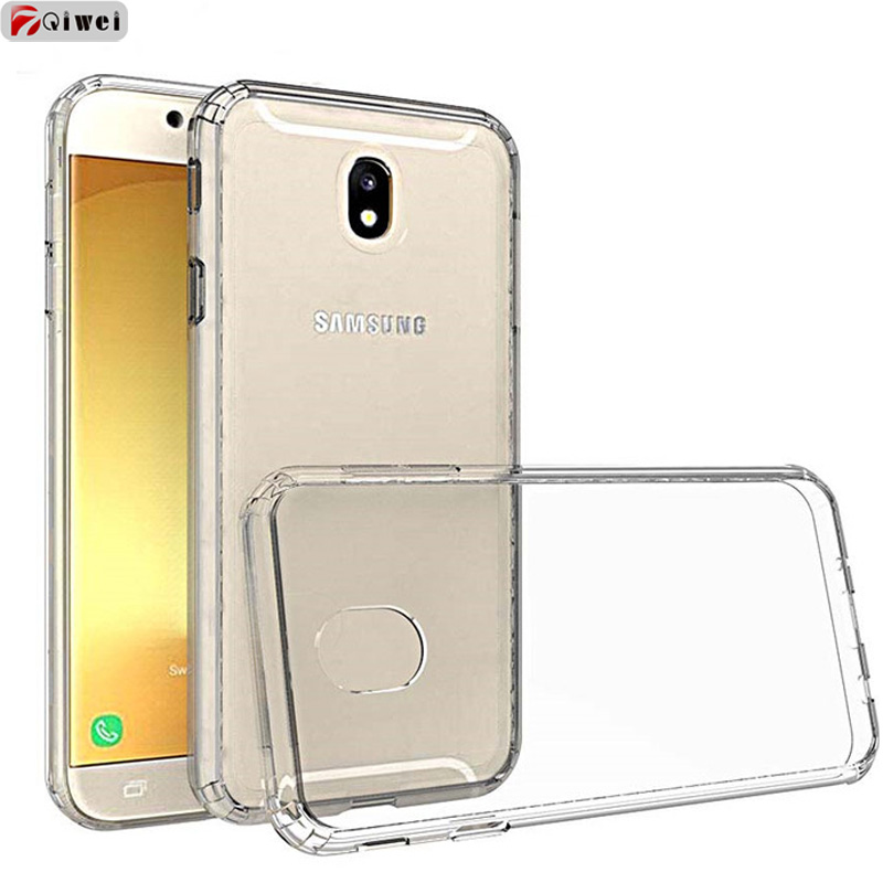 For Samsung J7 2017 Case Transparent Crystal Hard Cover Acrylic Hybird Armor Bumper Frame Back For Samsung Galaxy J7 Pro Case