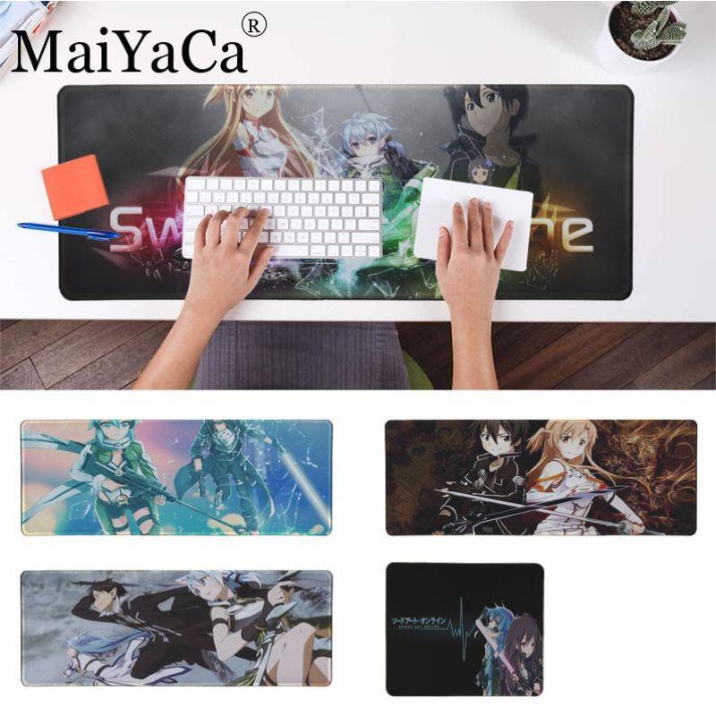 Ambitieus Maiyaca Sword Art Online Sinon Kirito Asuna Comfort Muis Mat Gaming Mousepad Voor Cs Dota 2 Lol Gaming Muismat Gratis Muismat