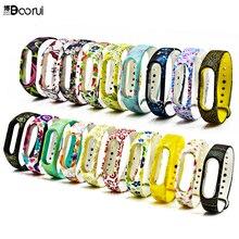ใหม่ mi Band 2 สายคล้องข้อมือหลายสีสำหรับ Xiao mi mi band 2 smartband อุปกรณ์เสริมซิลิโคนที่มีสีสันที่แตกต่างกันนาฬิกาข้อมือเข็มขัด