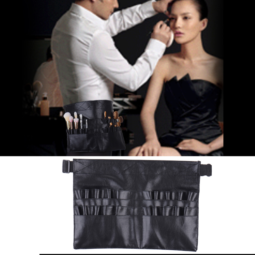 Professional Cosmetic Makeup Brushes Waterproof Apron Bag PU Artist Belt Strap Holder High Quality Make Up Beauty Tool Pouch Bag makeup brushes