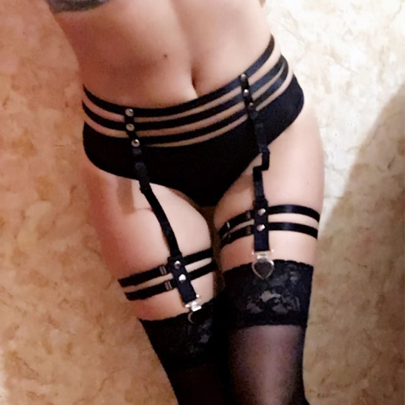 HTB1EqhVPpXXXXcdXXXXq6xXFXXXd Sexy Bondage Fetish Wear Lingerie Elastic Band Stockings Garter Belt For Women