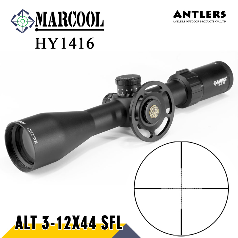 MARCOOL ALT 3-12X44 SFL Hunting Riflesocpe Big Wheel mill dot Reticle Optical Sight Rifle Scope for rifle gun and Pcp airgun