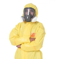 3000 Yellow Chemical Resistant Hooded Light Coverall Sulfuric Acid Alkali Safety Protective Laboratory Biochemistry Clothing