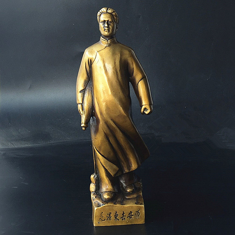 TNUKK  A collection of vintage bronze Chairman Mao to Anyuan. When young Mao Zedong bronze ornaments.TNUKK  A collection of vintage bronze Chairman Mao to Anyuan. When young Mao Zedong bronze ornaments.