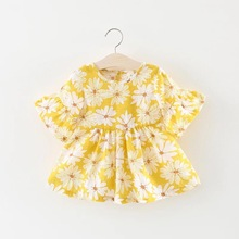 389607420872d BNWIGE 0-24M Casual Summer Baby Girl Dress Cotton Print Floral Bow ...