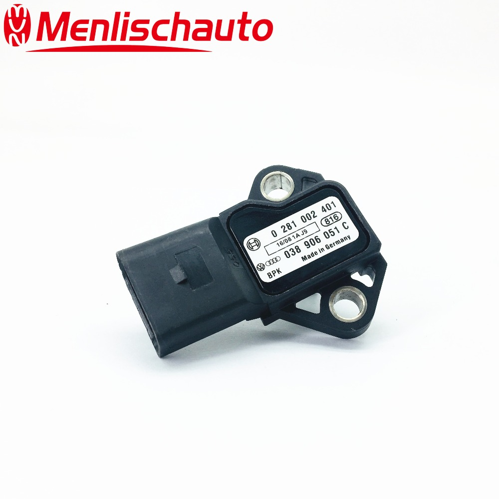 NEW MAP Sensor 0281002401 038906051C 0 281 002 401 038 906 051C for German Cars Turbocharger Boost Sensor(China)