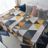 Kostenloser Versand Gelb Dreiecke Tischdecke Home/Hotel/Diner Tisch Abdeckung Kaminsims De Mesa Multifunktions Gedruckt Dachte Tuch Nappe