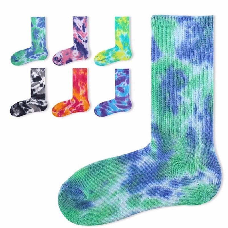 PEONFLY happy funny mens   Socks   Thick Thread   Socks   Restore Ancient Ways Nation Wind Tie-dyed Heap   Socks   Original Old Men
