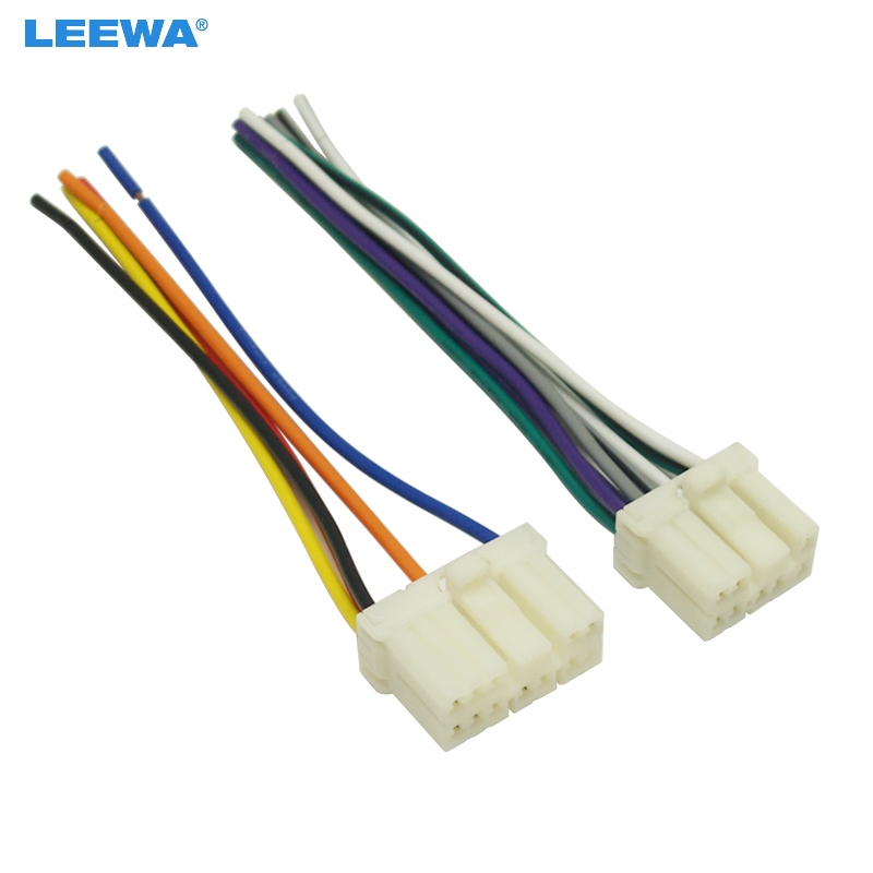 Leewa Car Radio Audio Wire Harness Aapter Male Plug For