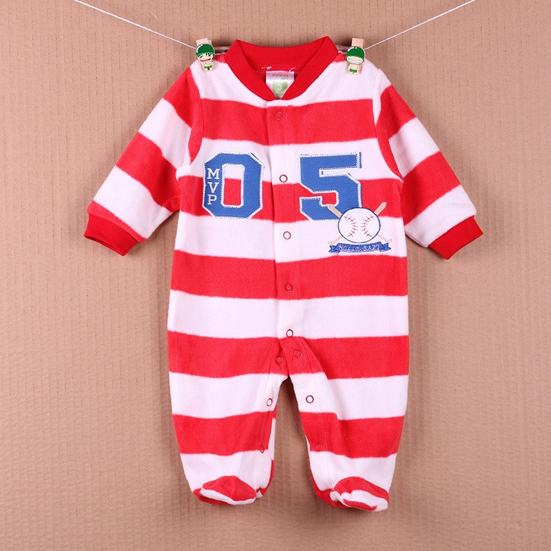 New Arrival Baby Footies Boys&Girls Jumpsuits Spring Autumn Clothes Warm Cotton Baby Footies Fleece Baby Clothing Free Shipping (23)