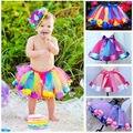 Lovely Kids Toddler Baby Girls Skirt Rainbow Tulle Tutu Party Ballet Dance Skirts