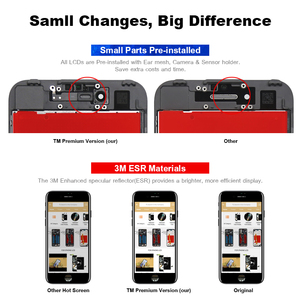 Image 5 - 10PCS For Tianma Quality For iphone 6S LCD Screen With Touch Digitizer Display Assembly Replacement White&Black +Camera Holder