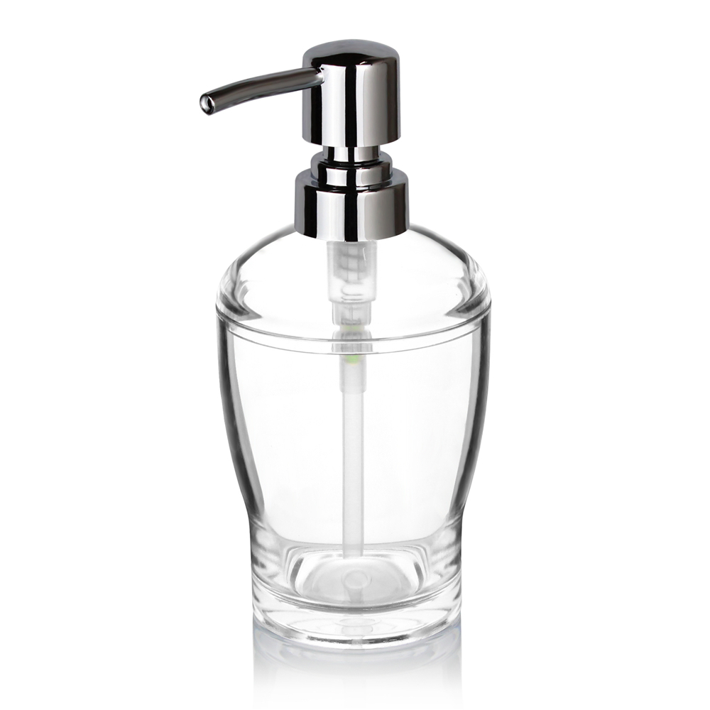 Acrylic Soap Lotion Liquid Dispenser Pump Bottle Transparent/Chrome Kitchen  Dishwashing Bathroom Countertops 10 OZ (Clear) In Liquid Soap Dispensers  From ...