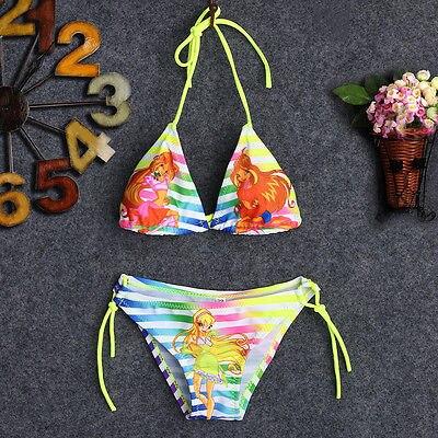 Girls Kids Child Bathing Suit Swimwear Bikini Tankini Swimsuit Swimming Costume