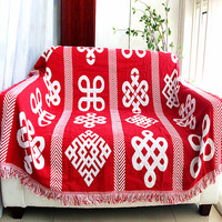 Geometric Coarse cotton thread Retro carpet thick blanket tie dye Ethnic Art blanket bed cover Double sided wall tapestry
