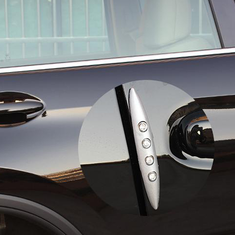 Black Sticker Domed Car Door Angle Corner Bumper Protector Guard Anti Collision
