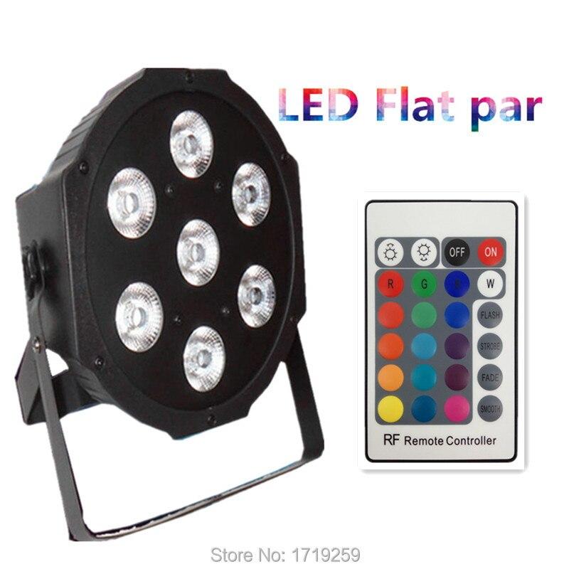 ФОТО Wireless remote control American DJ LED SlimPar 7x9W RGB 3IN1 LED DJ Wash Light Free shipping
