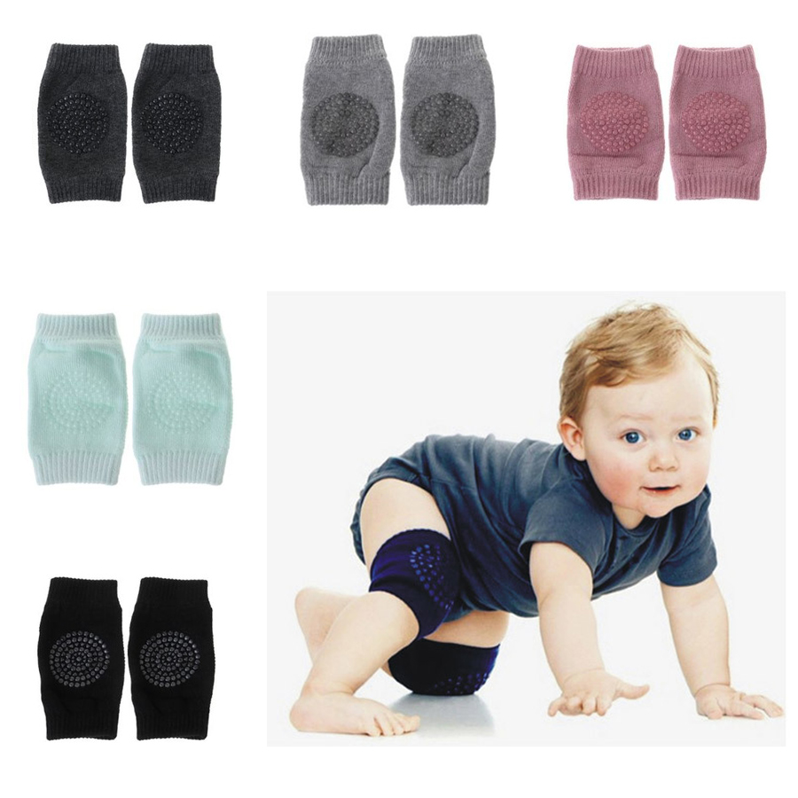 1pair Baby Care Knee Socks Baby Knee Protector Pads Non Slip Silicone Gel Safety Crawl Training Kid Elbow Cushion Breathable