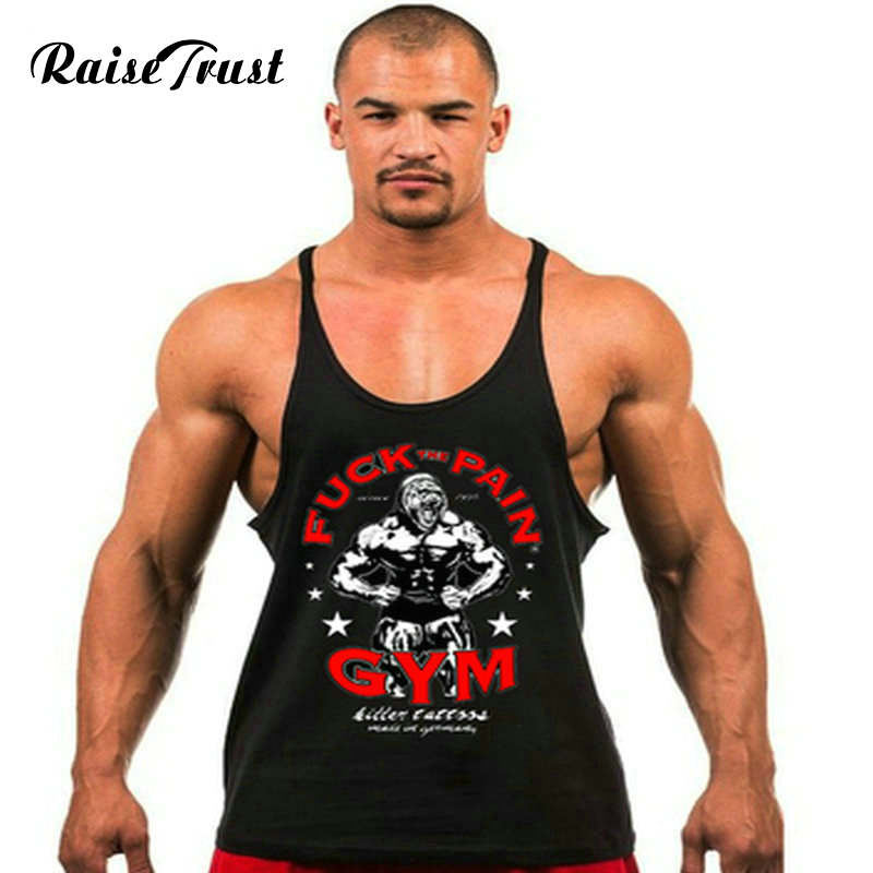Fitness!Spring 2019 cotton   tank     top   men Sleeveless   tops   for boys bodybuilding clothing undershirt vest powerhouse gyms