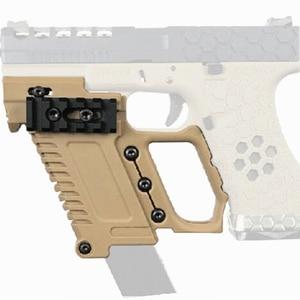 Image 2 - Тактический Глок для страйкбола держатель журнала Многофункциональный подходит для CS G17 G18 G19 пистолет Карабин Комплект охотничьи принадлежности