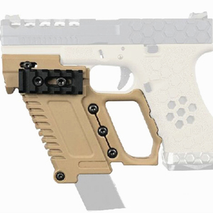 Image 2 - Tactical Airsoft GLOCK Magazine Holder Multi function Fits For CS G17 G18 G19  Pistol Carbine Kit Hunting Accessory