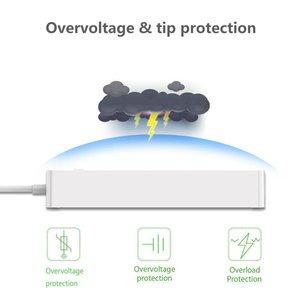 Image 3 - Akıllı WiFi güç şeridi dalgalanma koruyucusu 6 AC İngiltere fiş çıkışları prizler USB uzaktan kumanda ile Homekit çalışma Alexa, google ev