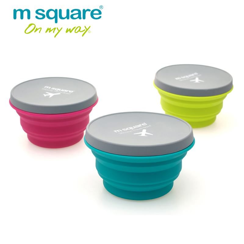 M Square Travel Accessories For Portable Water Cup Silicone Mug Foldable Travel Drinking Bottle Folding Bowl
