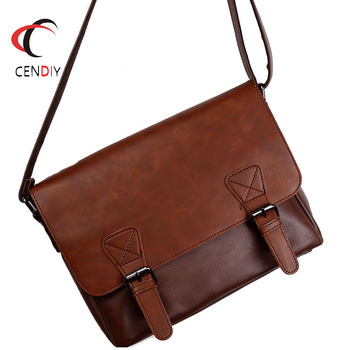 2020 Business Men Briefcase Messenger Bags Vintage Leather Shoulder Bag for Male Brand Casual Man Laptop Handbags Travel Bags luxury brand leather men shoulder bag casual crossbody bags for men black travel messenger bags business briefcase handbags male