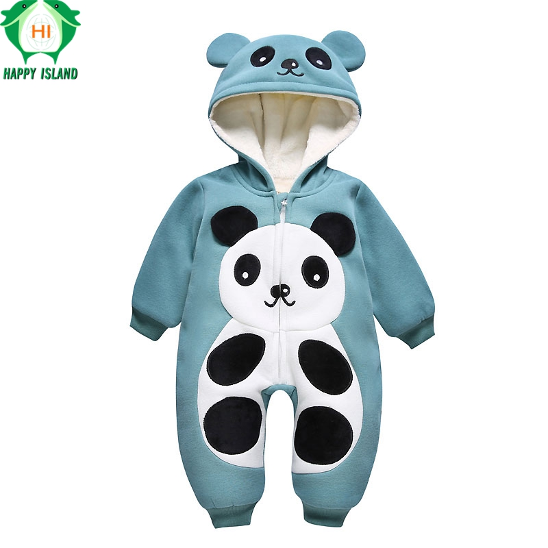 100% Cotton Newborn Baby Girls Boys Winter Hooded Rompers Baby Romper Body Suit Cartoon Long Sleeve Clothes roupas de bebe
