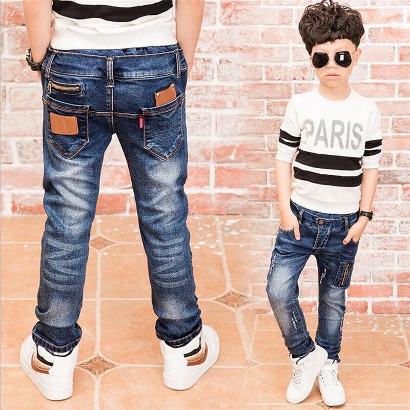 c47fec7d10b 2017 Children denim pants big boys slim jeans Boys Jeans ...