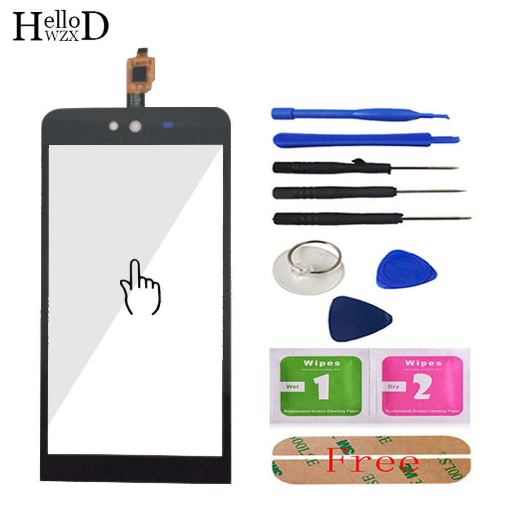 Mobile Phone TouchGlass For Micromax Q338 Blot Capacitive Front Touch Screen Glass Digitizer Panel Lens Sensor Tools Adhesive