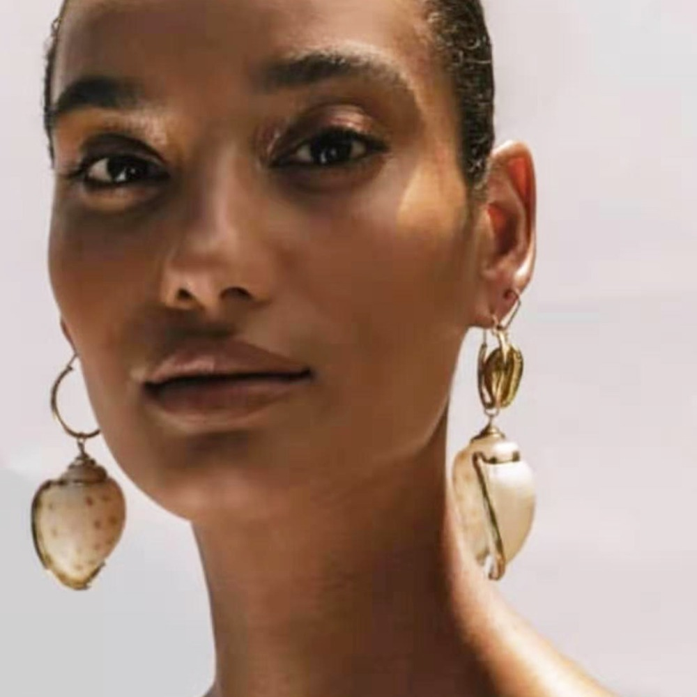 83.87руб. 25% СКИДКА|Женские серьги капельки в виде раковины, модный подарок на летнюю вечеринку|Серьги-подвески| |  - AliExpress