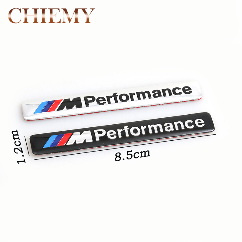 1x Aluminum M Power Performance Car Sticker Decal Emblem Badge For BMW M 1 3 4 5 6 7 E X M3 M5 M6 Mline Car Styling Accessories цена