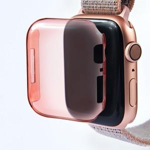 Image 2 - 2019 Мягкий ТПУ полный Смарт часы чехол для Apple Watch 4 3 2 1 40 мм 44 мм защитный ТПУ прочный защитный чехол для Apple Watch