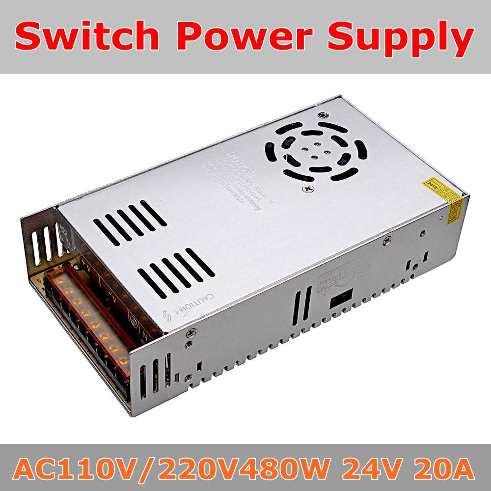 Switch Power Supply AC110V/220V To DC24V 20A 480W Led Power Supply Transformer for Led strip AdapterSwitch Power Supply AC110V/220V To DC24V 20A 480W Led Power Supply Transformer for Led strip Adapter