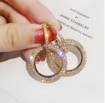 Διπλοί κρίκοι με στρας Κοσμήματα Σκουλαρίκια Αξεσουάρ MSOW