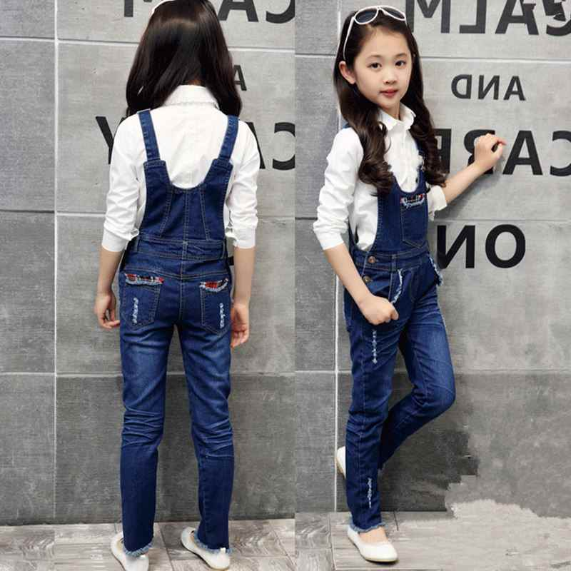6205d0576 2019 new spring baby girls jumpsuit rompers autumn fashion washed jeans  children denim romper suspenders trousers