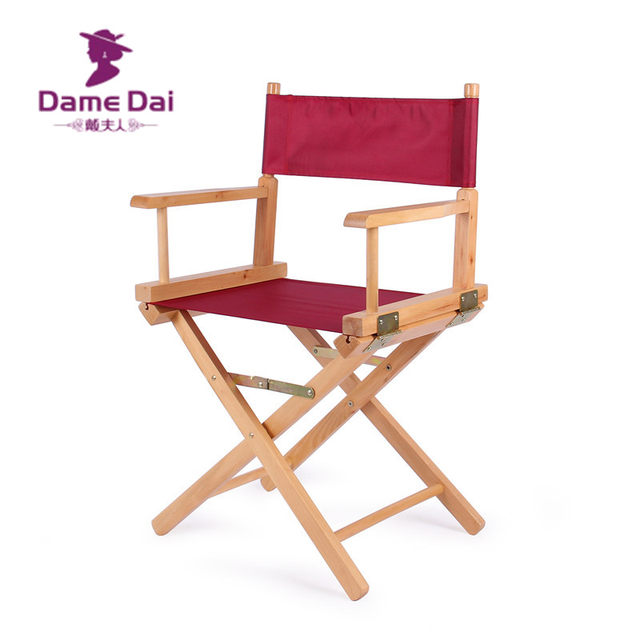Standard Height Directors Chair Canvas Seat And Back Outdoor Furniture Portable Wood Director Chairs Folding Camping Beach