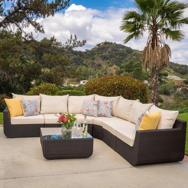 US $854.05 5% di SCONTO|Vendita diretta della fabbrica vendita calda  profonda soggiorno usato wicker moderno mobili veranda-in Arredo per sala  da ...