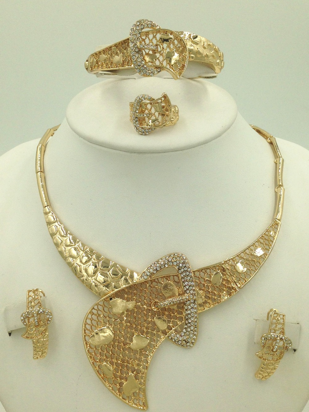 Folli Unique Belt Dubai Design Fashion Jewelry Sets 18K Dubai Gold ...